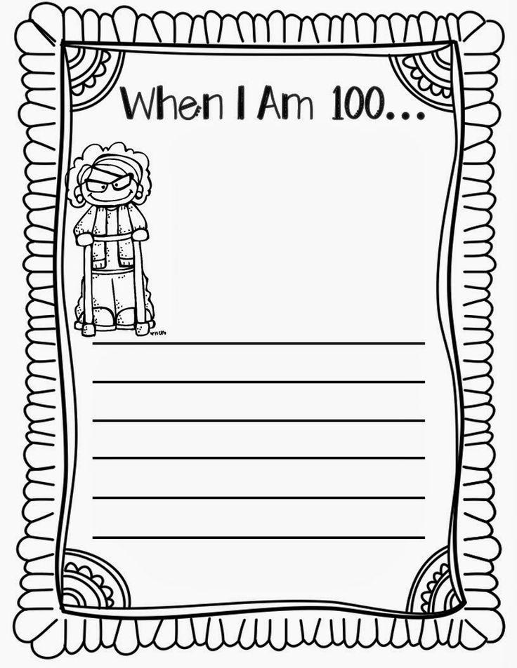 {FREE} 100 Days of School Writing Activities