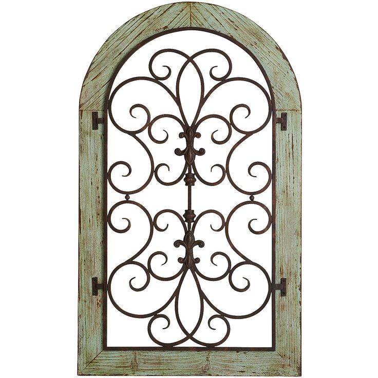 Verdigris arch wall decor tuscan decor pinterest for Arch window decoration