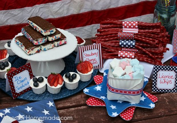 4th of july no bake cookies