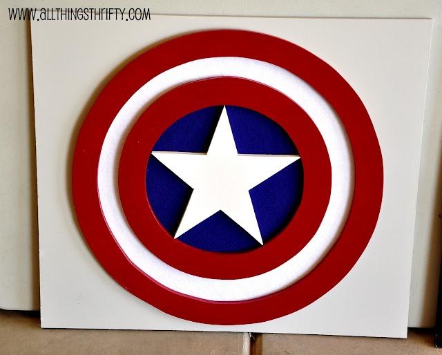 Captain America Wall Art Diy Pinterest