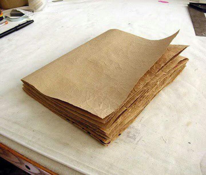 Book Cover Using Paper Bag ~ Diy journal crafts pinterest