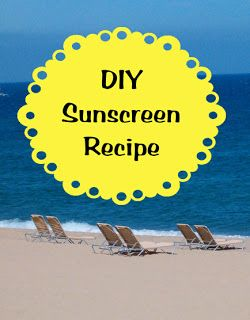 Yes!  You can make your own sunscreen!  No chemicals or icky stuff!