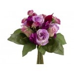 "11.5"" Rose and Calla Lily Bouquet in Lavender Orchid (Bulk 6 Bouquets)"