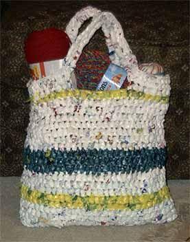 Crochet Pattern For Plastic Bag Tote : Plarn Tote Plarn Ideas Pinterest