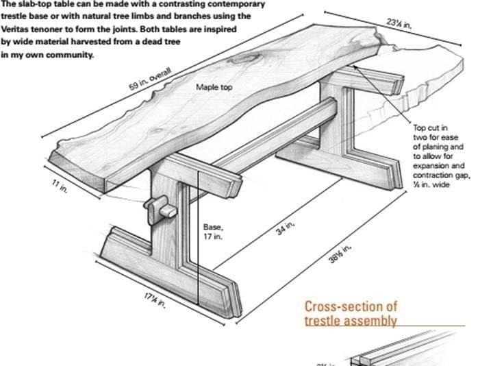 Рабочий стол из дерева чертежи