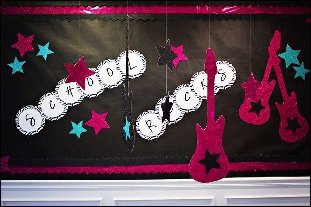 Rockstar Classroom Decor ~ School rocks hollywood theme lights movie action