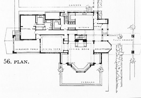 Bradley house frank lloyd wright pinterest Frank lloyd wright house floor plans
