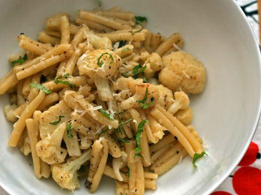 Cauliflower Pasta With Pecorino, Grated Egg, And Pine Nuts Recipes ...
