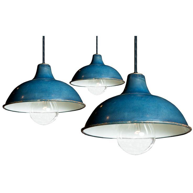 Industrial Blue Pendant Light Fixtures