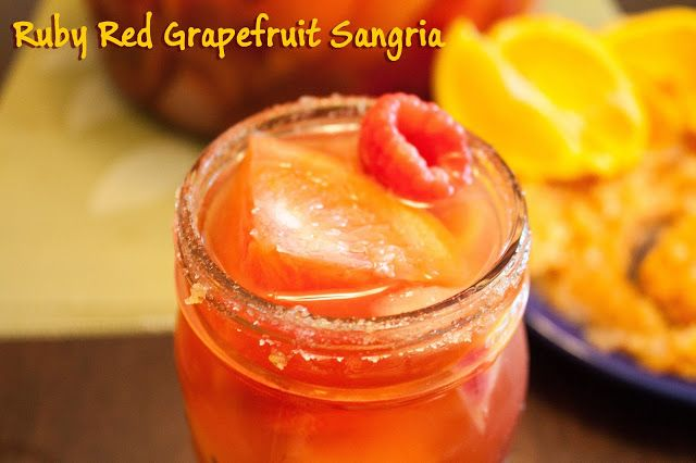 Ruby Red Grapefruit Sangria | Mouth Watering Recipes | Pinterest