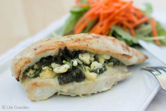 Chicken Stuffed with Feta & Spinach