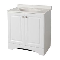 Glacier Bay 30-1/2 in. W Vanity in White with Cultured Marble Vanity ...