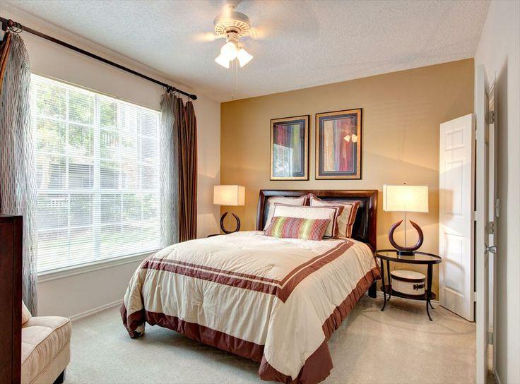 model bedroom at amli at eldridge parkway a luxury apartment