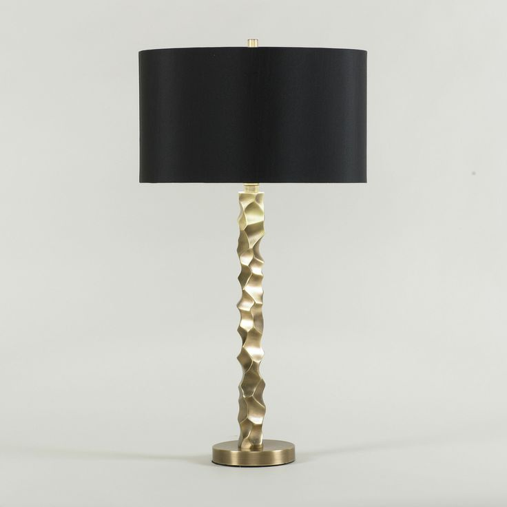 black shade and gold base table lamp in stock lighting pinterest. Black Bedroom Furniture Sets. Home Design Ideas
