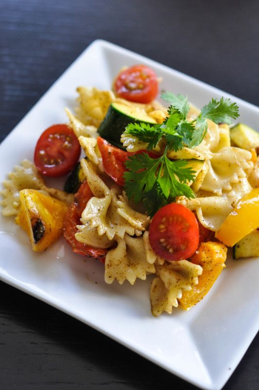 Grilled Vegetable Pasta Salad with Sweet Curry Dressing- Suburble.com