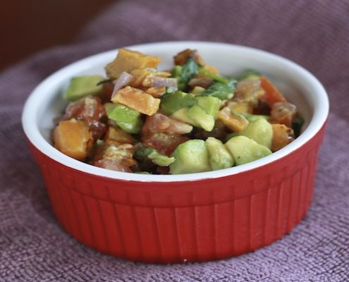Sweet potato Salsa-sweet potatoes, red onion, tomatoes, avocado ...