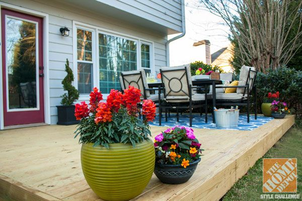 Pin by jannette on for the home outdoors pinterest for Small deck decorating ideas