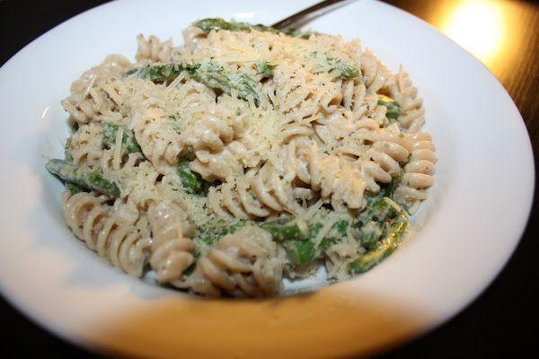 Asparagus Goat Cheese and Lemon Pasta - Maryann's Healthy Recipes