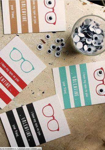 DIY Valentines - Love the eyes! #etsy #valentines #gifts #handmade