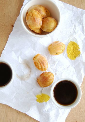 Orange cardamom madeleines with Cointreau glaze
