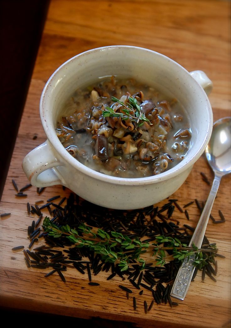 wild rice and mushroom soup | Soup | Pinterest