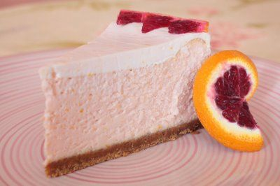 Blood Orange Cheesecake makes a 10-inch round, serves between 8 and 16 ...
