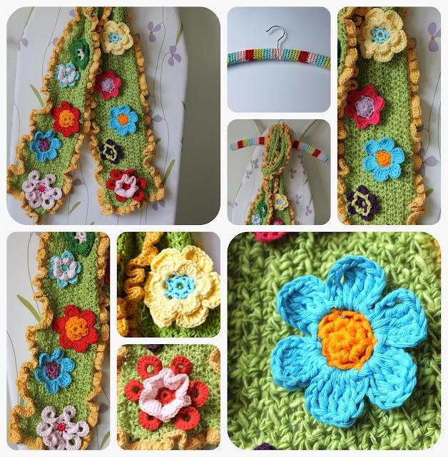 Crochet Flower Scarf Tutorial Crochet Creations Pinterest