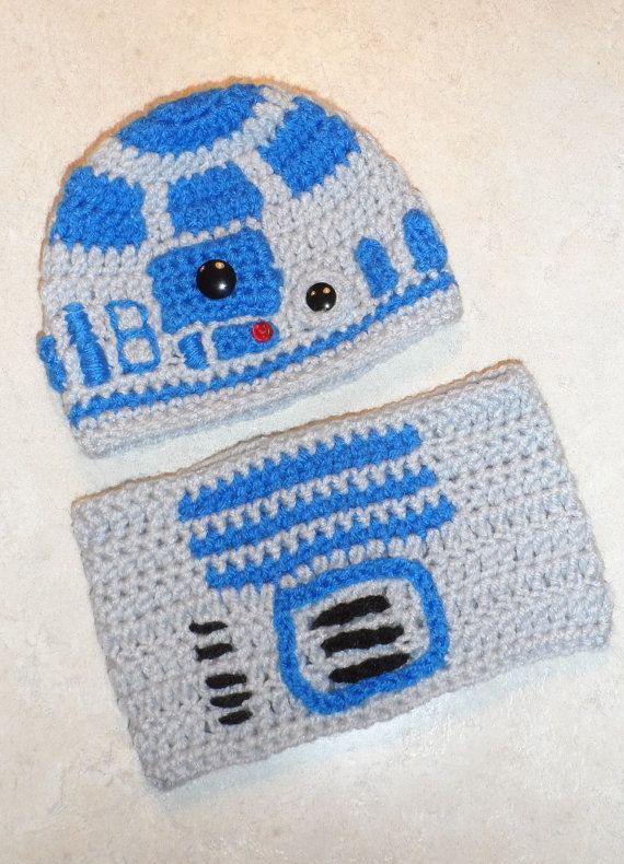 PATTERN- R2D2 Crochet Hat and Tube Top
