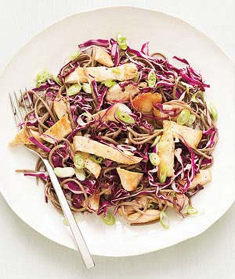 way to style your soba, cook up soba salad with chicken and cabbage ...