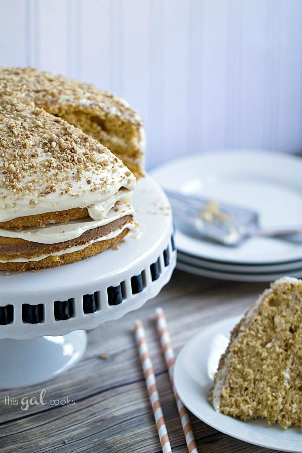 Pumpkin Spice Cake With Maple Frosting Recipe — Dishmaps