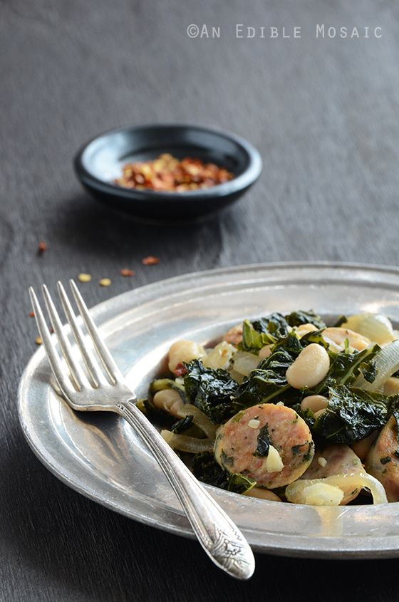Sautéed-Kale-with-Sausage-and-White-Beans-2