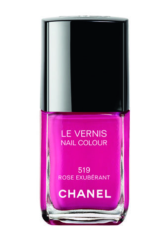 Talk about bright! Try Chanel's Rose Exubérant polish for a manicure that pops!