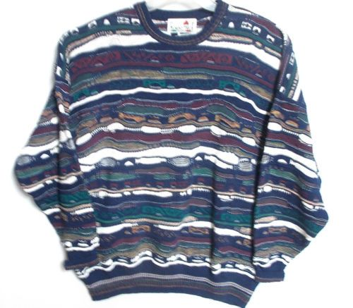 Mens xxl sweater 2xl Florence Tricot Styled in Italy Urban Cosby style ...