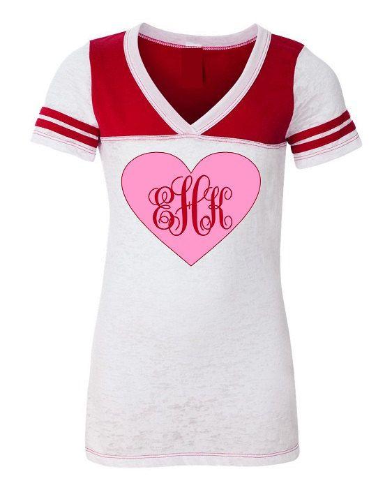Personalized valentine shirt junior fit burnout by monogramjunkie 32