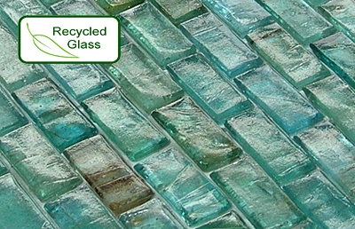 recycled glass mosaic tile backsplash all about recycling