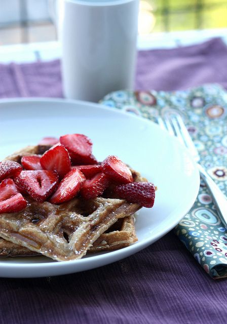 Honey-Yogurt Waffles... I really need a waffle maker. (It's probably ...