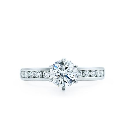 Tiffany  Co. | Engagement Rings | Round Brilliant With Channel-set ...