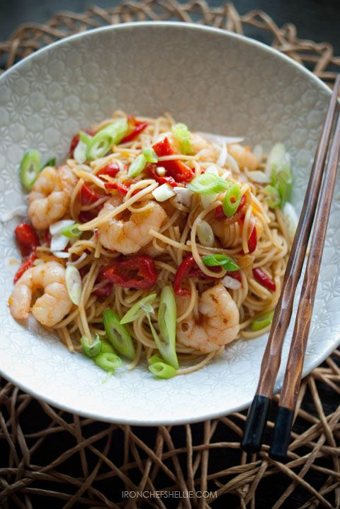 Sesame Orange Prawns with Egg Noodles Adapted from Delicious Magazine