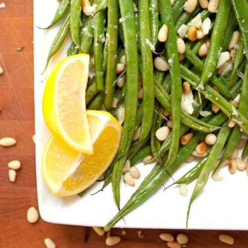 Green Beans with Toasted Pine Nuts HealthyAperture.com