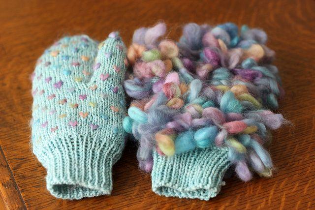 Knitting Pattern For Thrum Mittens : Thrummed Mittens knitterlies Pinterest
