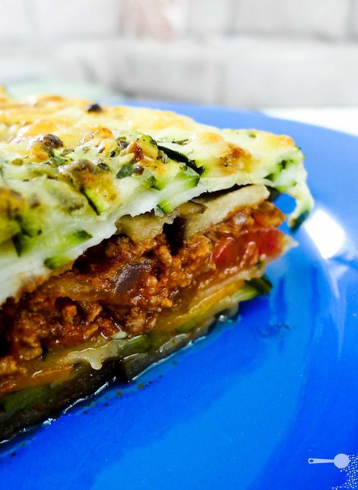Pasta-less veggie and Beef Lasagna. Very yummy, but kinda watery... I ...