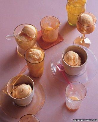 Peach and Buttermilk Sherbet | トライしたいレシピ | Pinterest