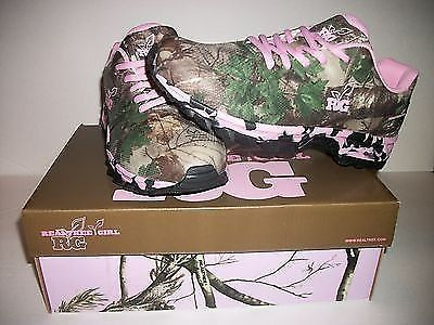 Womens Realtree Girl PINK Camo Mamba Shoes Size 7 Sneaker Camping