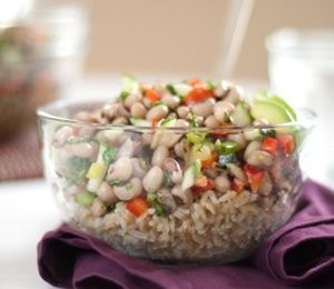 black-eyed pea salad recipe - summer side or potluck dish.