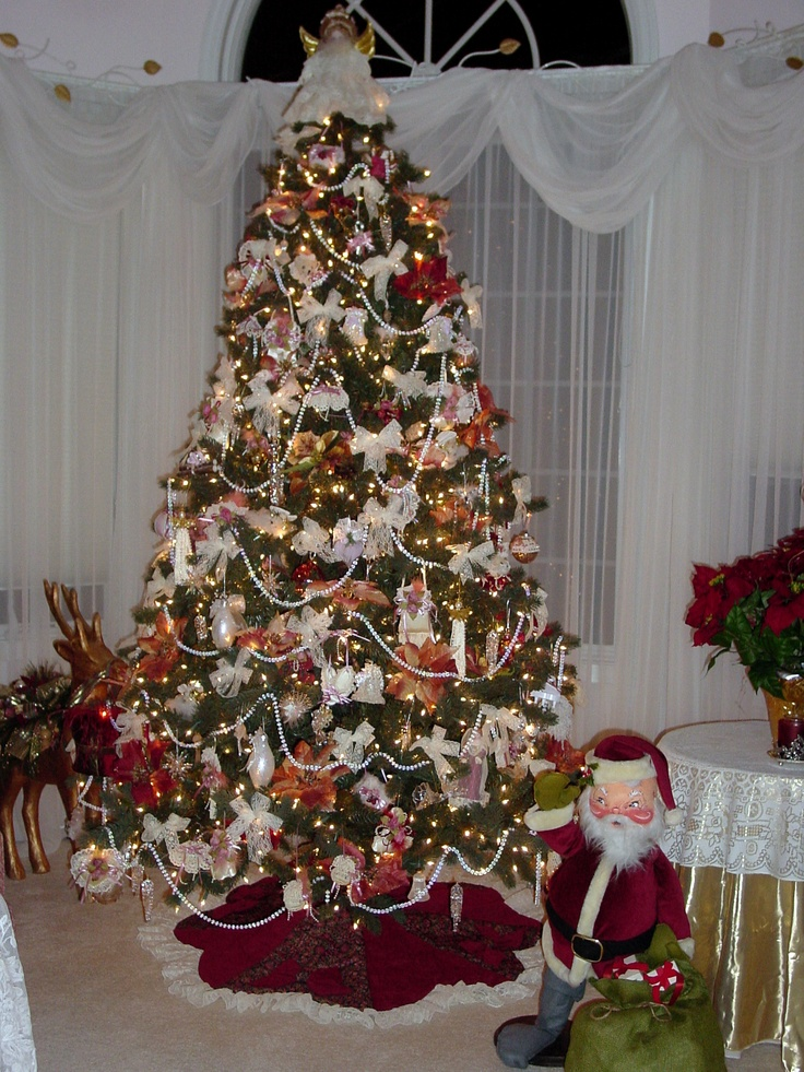 Bedroom Tree Christmas Decorating Pinterest