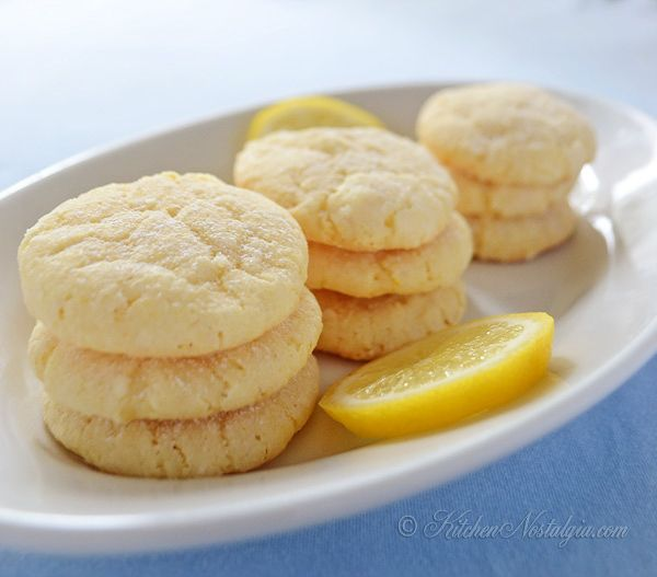 Lemon Crinkle Cookies - kitchennostalgia.com Note she suggests ...