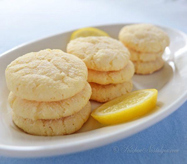 Lemon Crinkle Cookies - kitchennostalgia.com Note she suggests ...