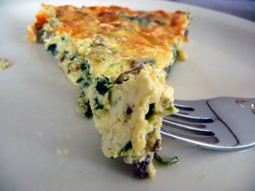 Mushroom Spinach & Gruyere Quiche We subbed our spring onions for the ...
