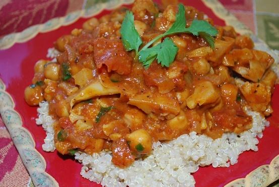 Cauliflower Chickpea Curry | Dinner ideas | Pinterest