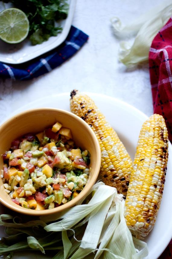 Lime Roasted Sweet Corn Salsa | What's for dinner? | Pinterest
